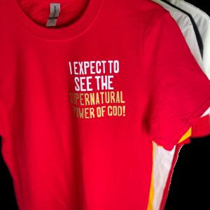 Short Sleeve T-shirt: Supernatural Power of God-Style R